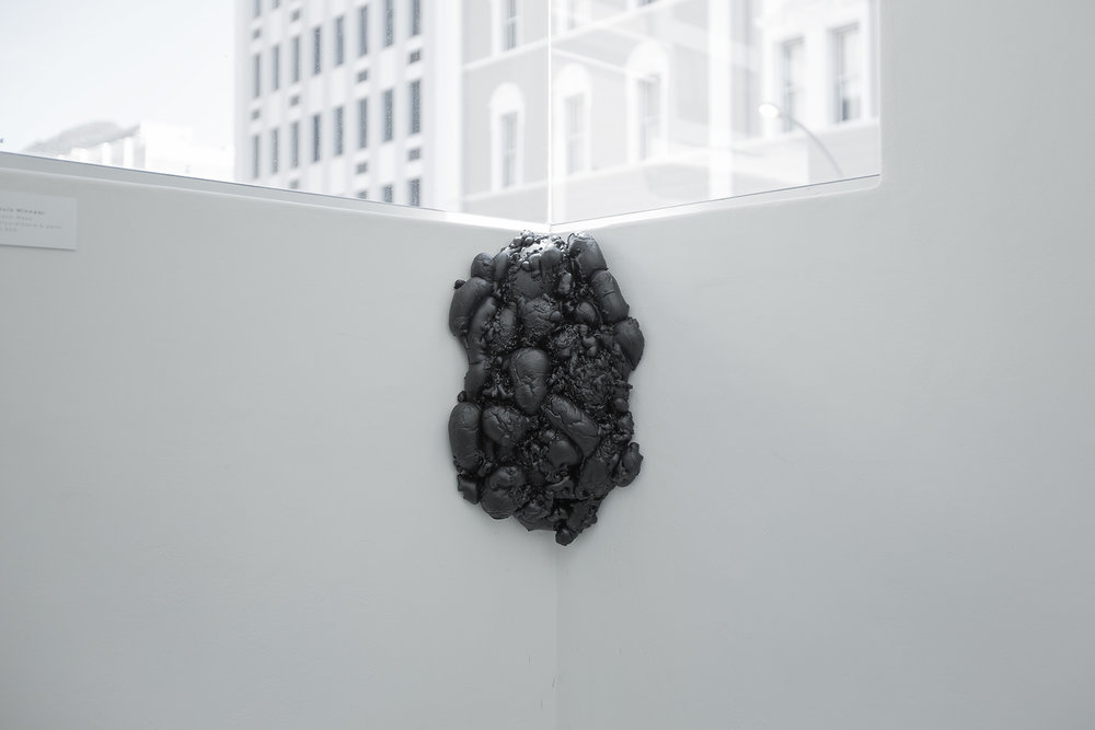 Louis Minnaar  Black Mass  Polyurethane & paint  Installation shot