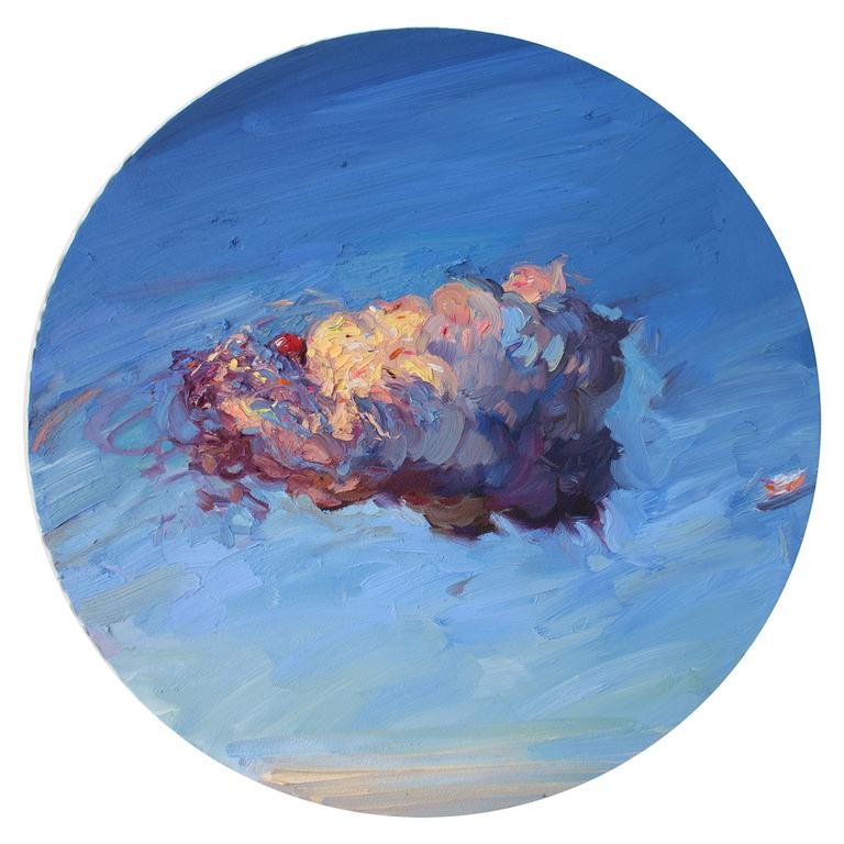 Alice Toich  'Miracle'  Oil on canvas with acrylic icing  68 x 68 cm
