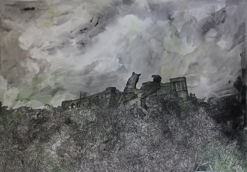 Isabella Kuijers  Ozymandias  Mixed media on paper