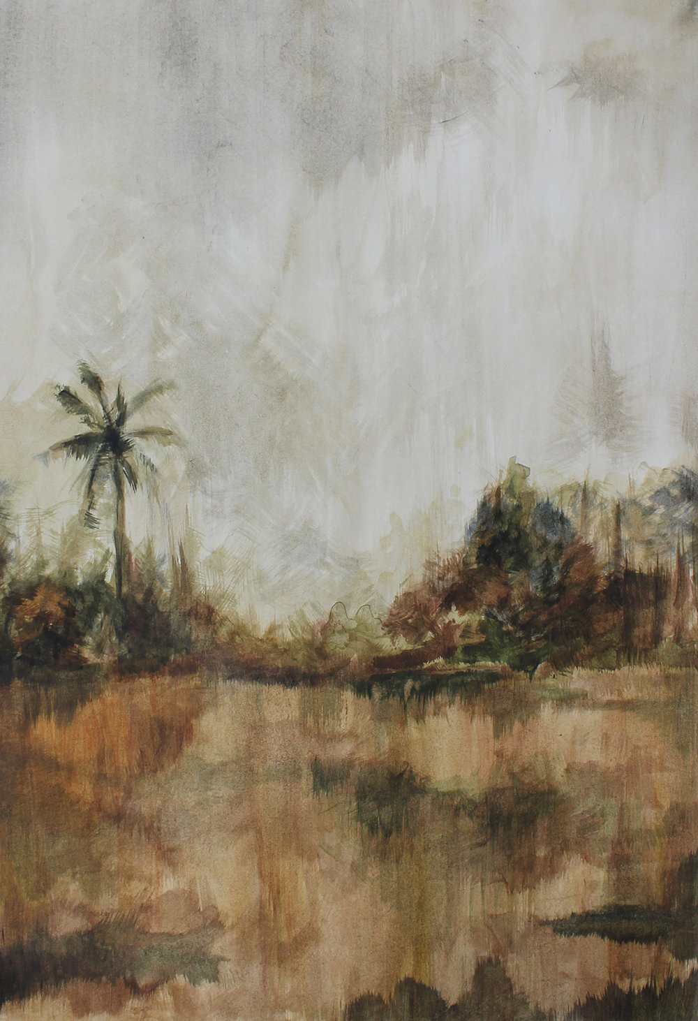 Zarah Cassim  Mete II  Oil on paper  42 x 29.7 cm