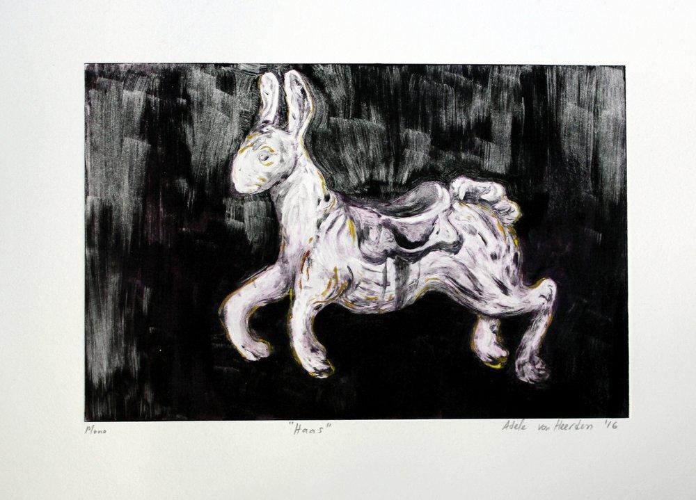 Adele van Heerden  Haas  Monoprint ed / 06