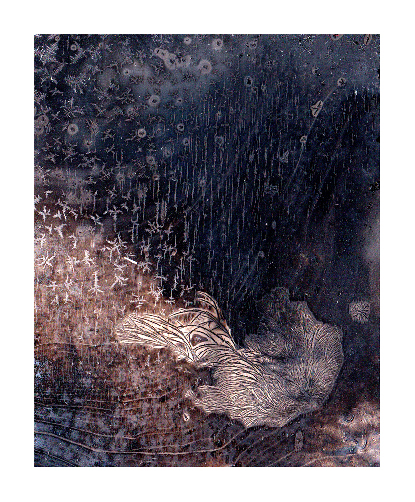 Mariëtte Kotzé  'Imaginary Landscape 1'  Mixed media of ink wash movement, digitally captured & printed on Hahnemühle Museum Etching  29 x 24 cm