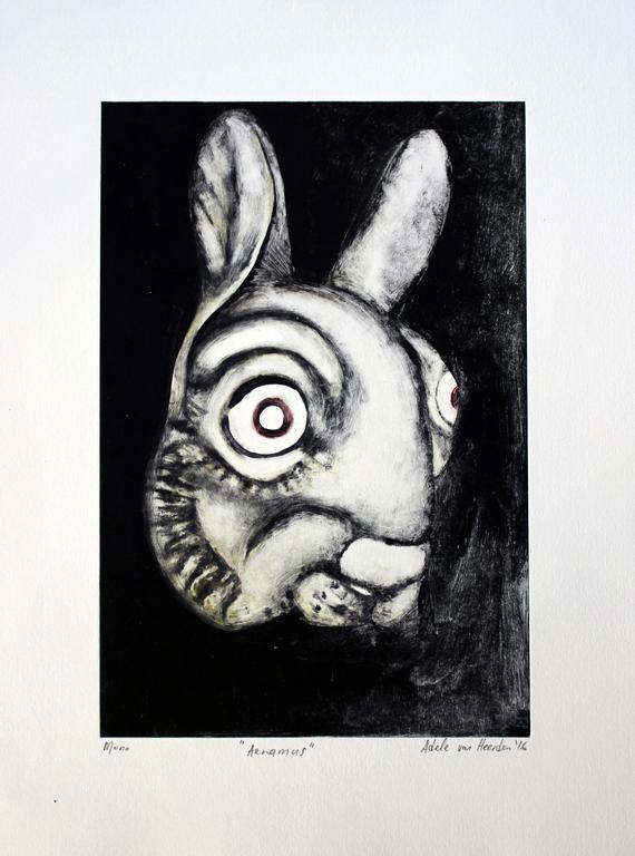 Adele van Heerden  'Aenimus'  Monoprint on paper  48 x 35 cm