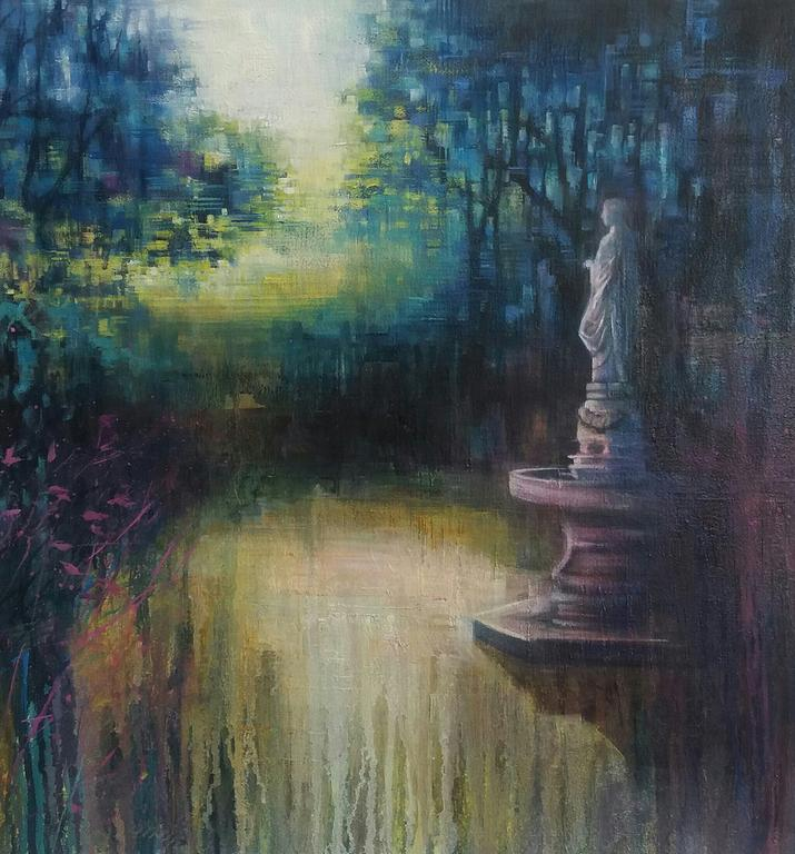 Karen Wykerd  'Temperance Memorial'  Oil on canvas  52 x 52 cm