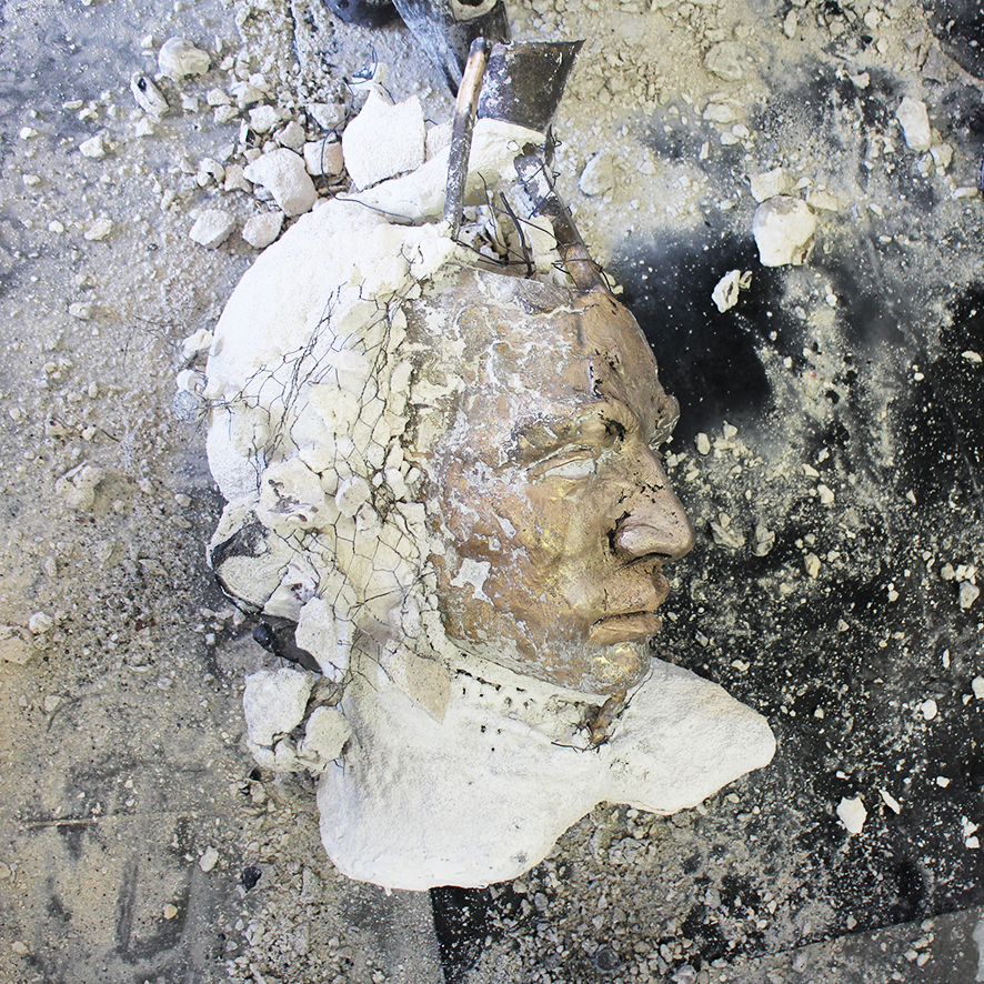 Adriaan Diedericks  'Transfiguration (bust)' (in preparation for the exhibition)  Bronze  59 x 31 x 40 cm