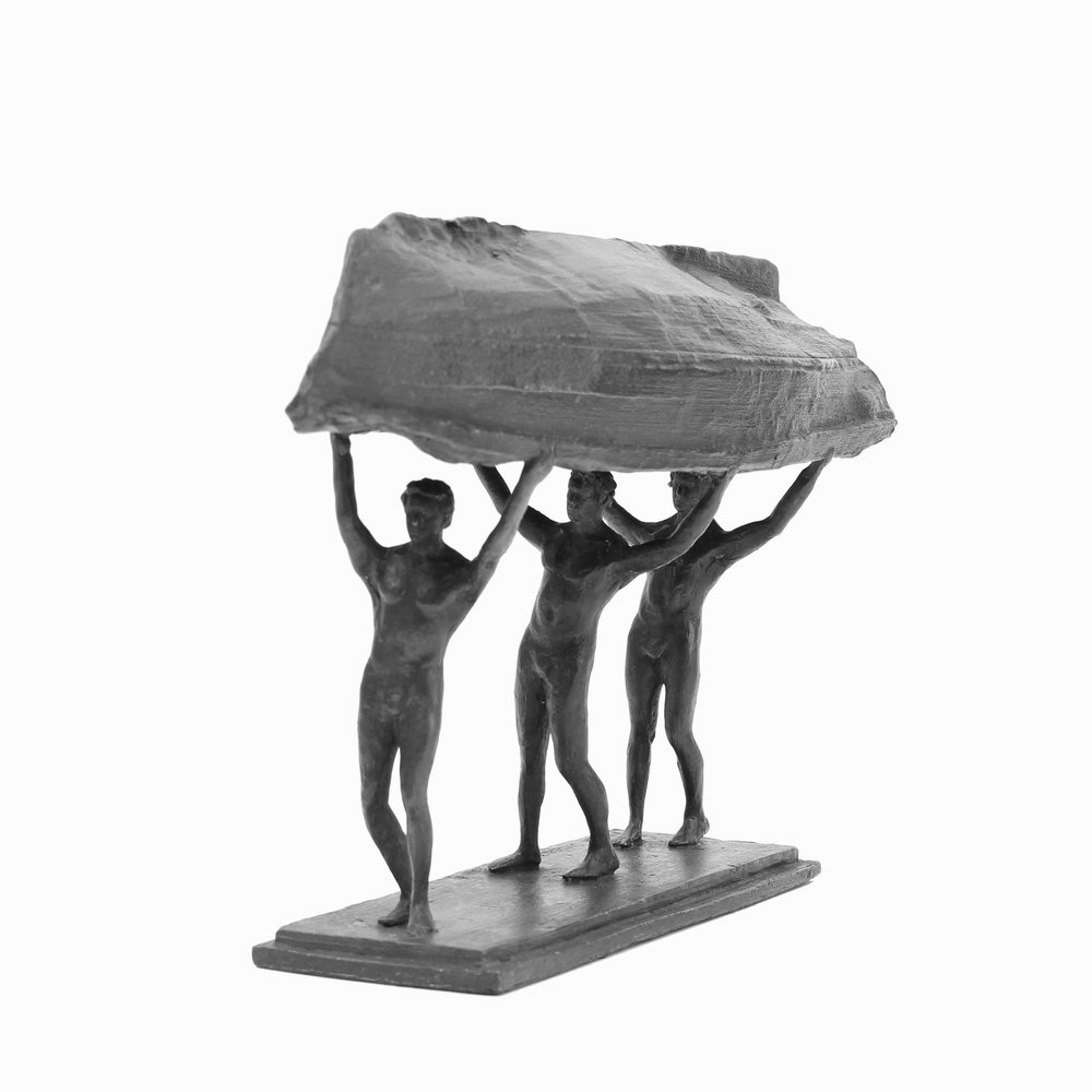 Adriaan Diedericks  Burdened Man (maquette) I   Bronze  Edition 01/12  18 x 8.5 x 30 cm