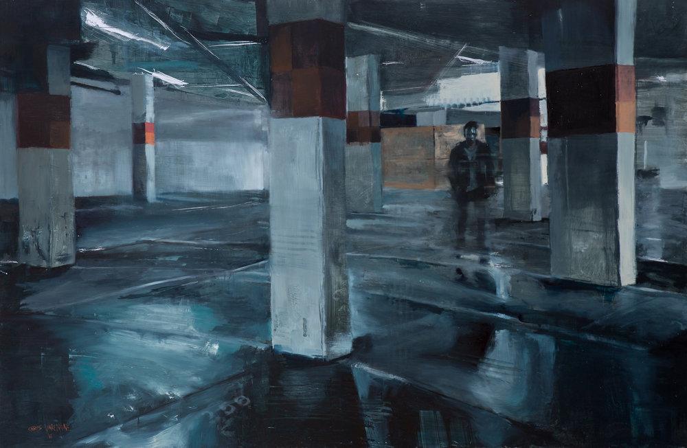 Chris Valentine  Terminus  Oil on panel  100 x 150 cm