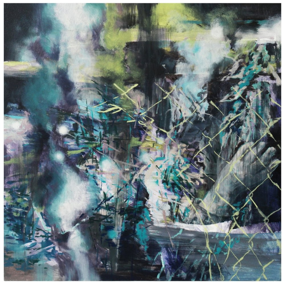 Karen Cronje  All the things you've just escaped  Oil on canvas  40 x 40 cm