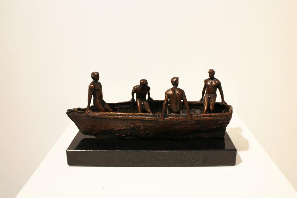 Adriaan Diedericks  'Burdened Man (maquette) II'  Bronze  Edition 01/12  15 x 11 x 28 cm