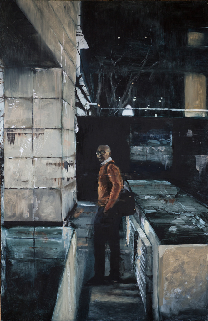Chris Valentine  'Repose | Into the Night'  Oil on panel   150 x 100 cm