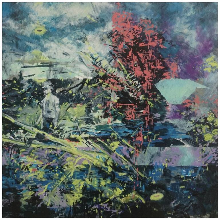 Karen Cronje  'Mithridatism'  Oil on primed paper   30 x 30 cm