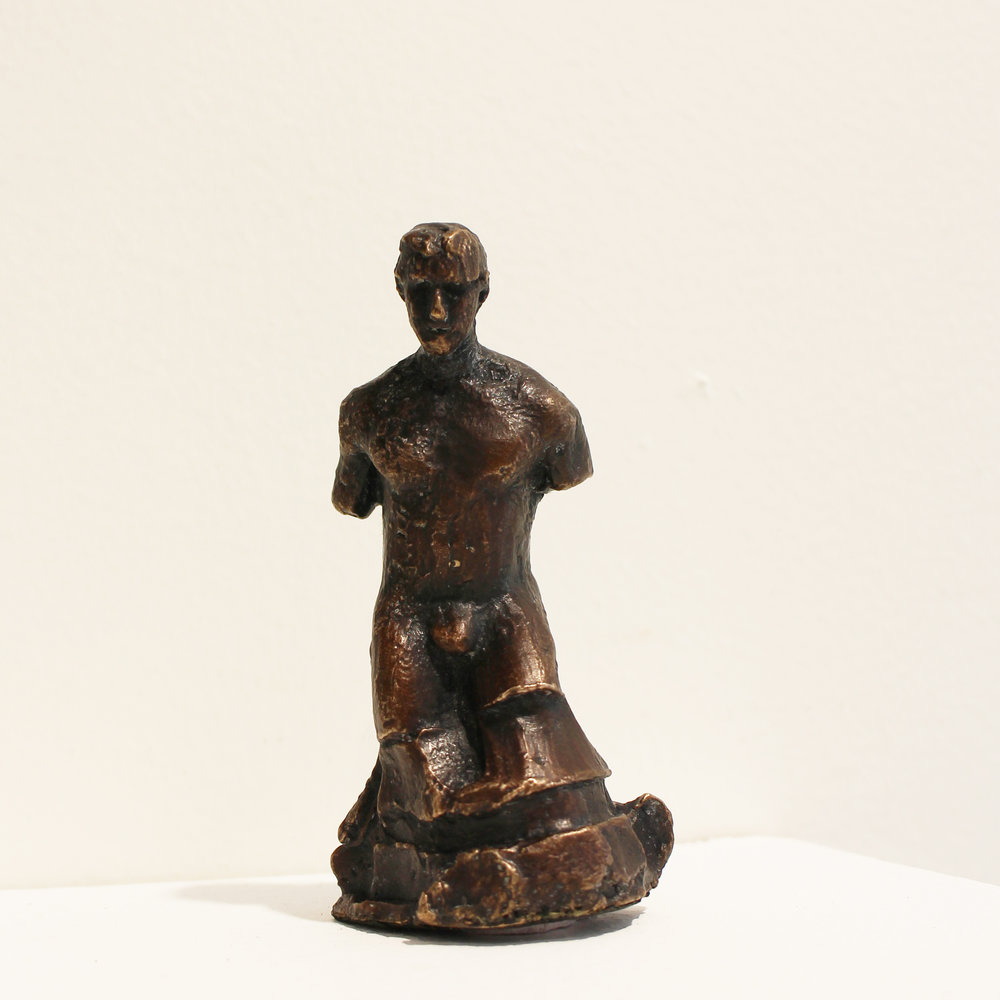 Adriaan Diedericks  'Tittle Tattle I'  Bronze  Edition 01/01  8.5 x 3 x 4 cm