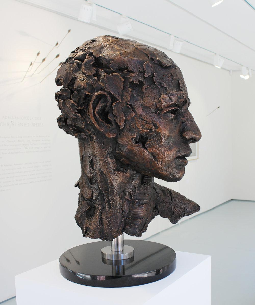 Adriaan Diedericks  'Transfiguration (bust)'  Bronze  Edition 01/08  59 x 31 x 40 cm