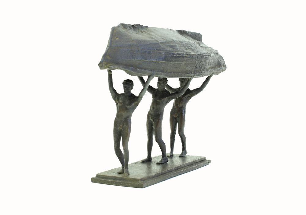 Adriaan Diedericks  'Burdened Man (maquette) I'  Bronze  18 x 8.5 x 30 cm  05/12