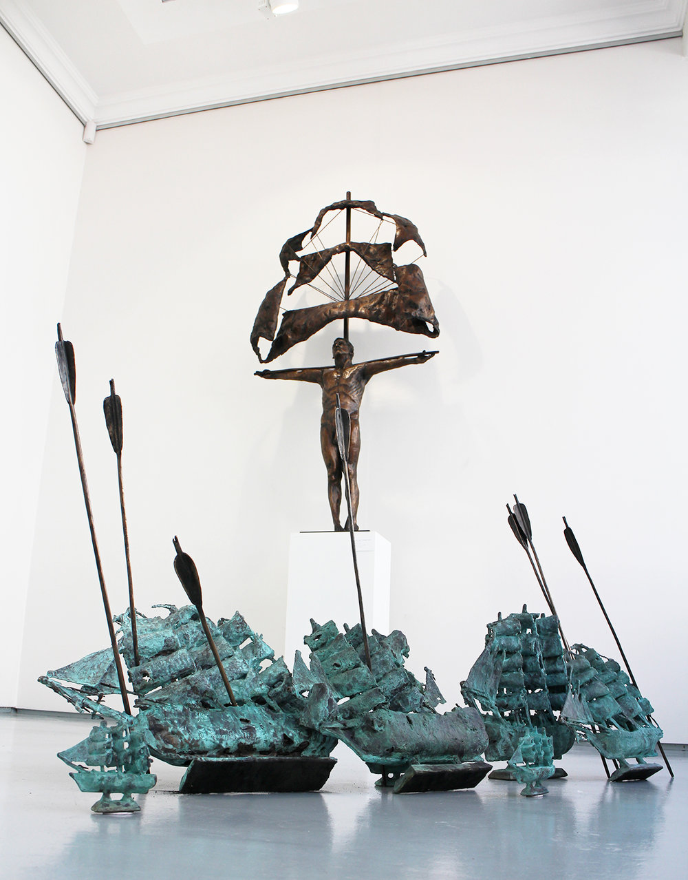 Adriaan Diedericks  'Corpus', 'Ships' & 'Arrows'  Bronze  Edition 01/08 / unique  172 x 90 x 25 cm / dimensions variable