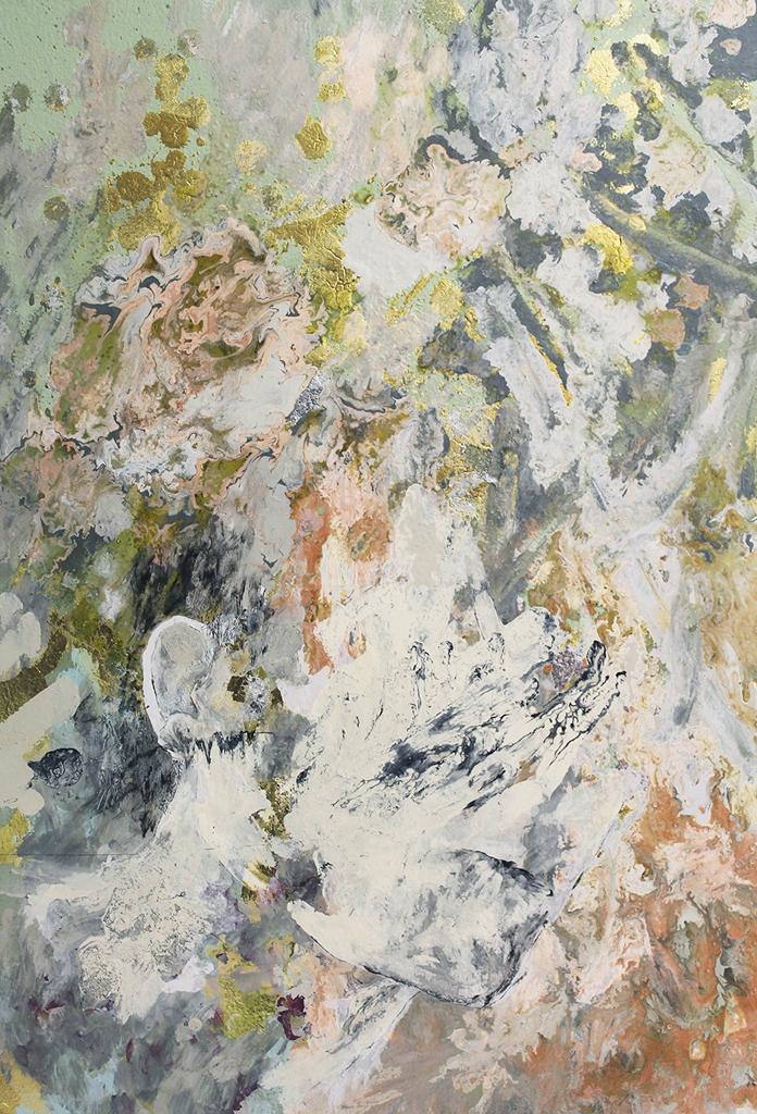 Anastasia Pather  Peter  Mixed media on canvas  60 x 45 cm