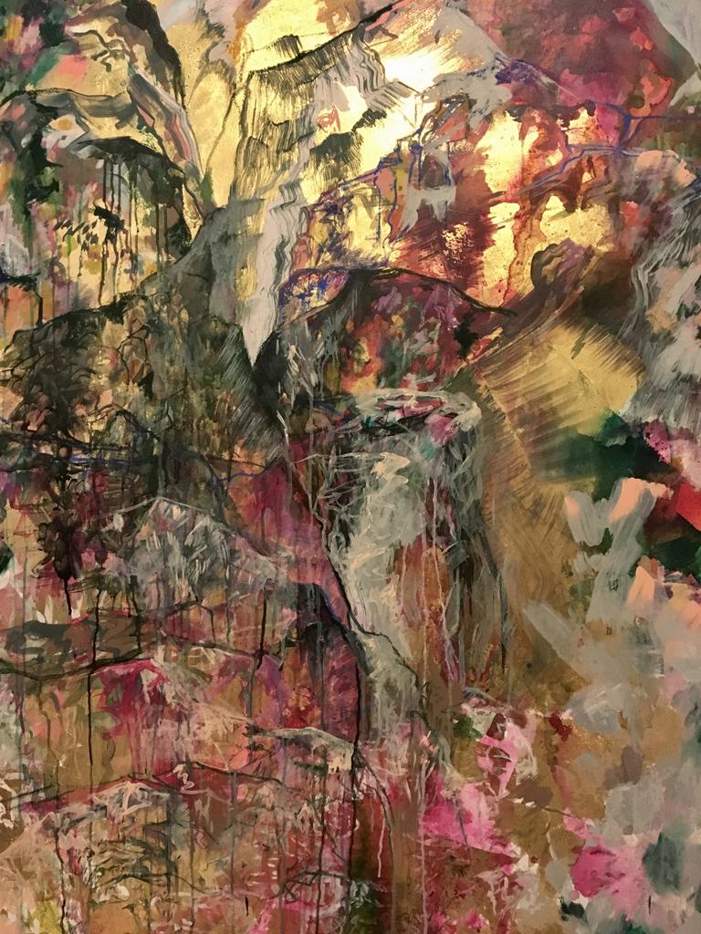 Anastasia Pather  Stoneface  Mixed media on canvas  170 x 100 cm
