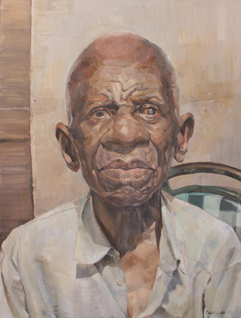 Daniel Clarke  Kapiripiri the Dam Builder  Oil on canvas  120 x 90 cm
