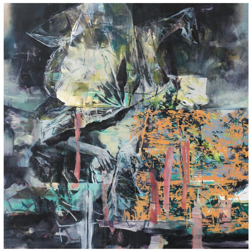 Karen Cronje  Toil  Oil on canvas  40 x 40 cm
