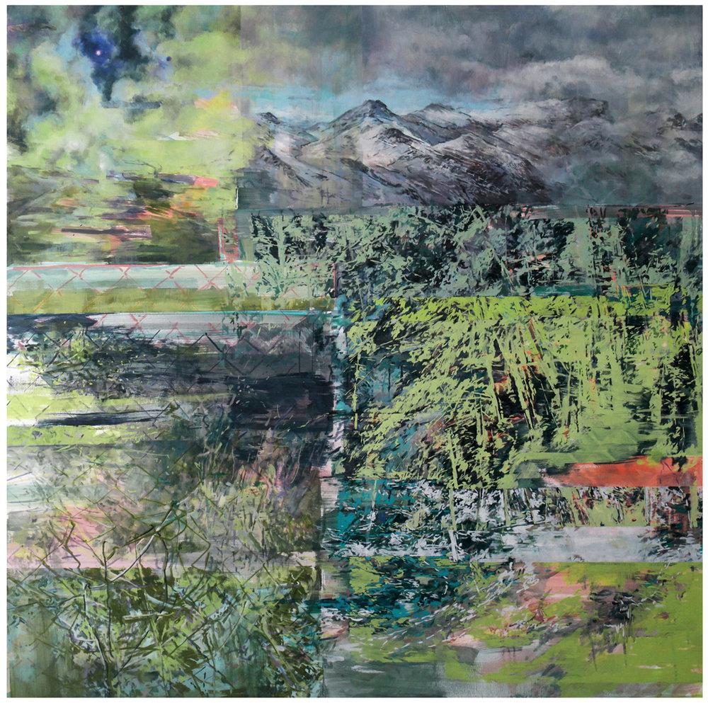 Karen Cronje  Periphery  Oil on canvas  120 x 120 cm
