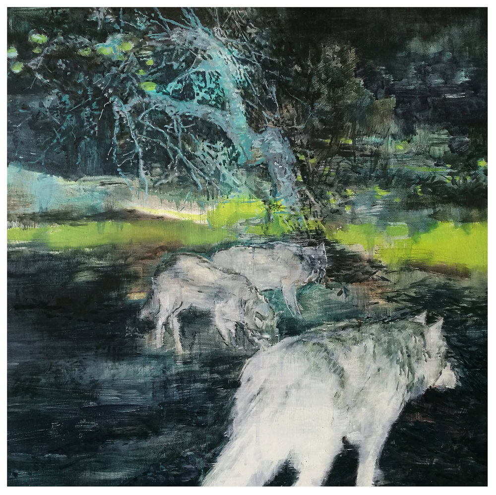 Karen Cronje  Reversion II  Oil on canvas  61 x 61 cm