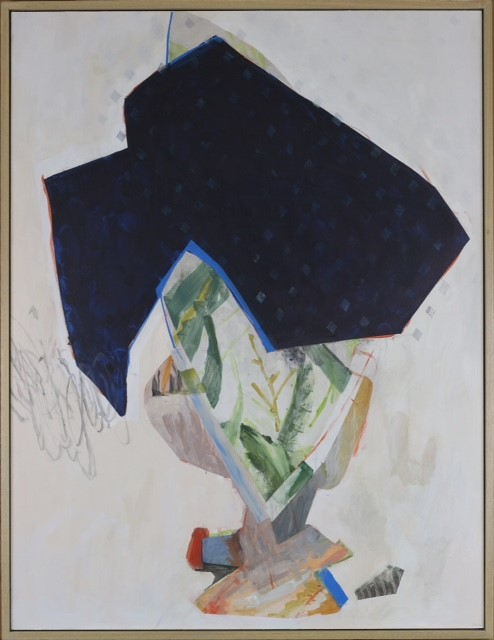 Jeanne Hoffman  Resisting change (the secret of green leaves)  Acrylic on board  85 x 65 cm