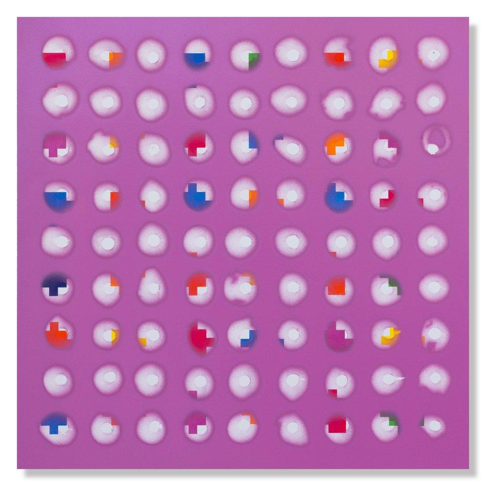 Richard Mason  Goblins talking  Enamel on paper  40 x 40 cm