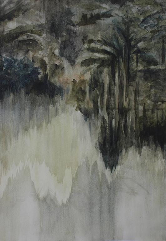 Zarah Cassim  Mete III  Oil on paper  41.5 x 29 cm