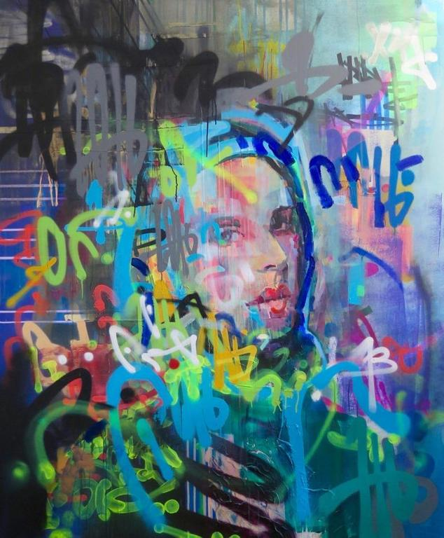 Kilmany-Jo Liversage  Resuvwa 1216, 2016  Mixed media on canvas  180 x 150 cm