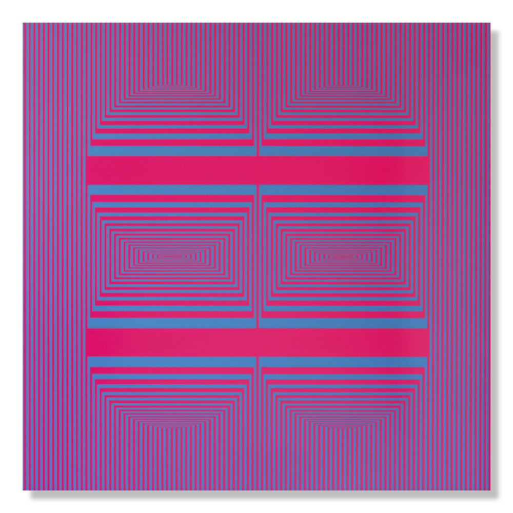 Richard Mason  Solstice  Enamel on aluminium composite  100 x 100 cm