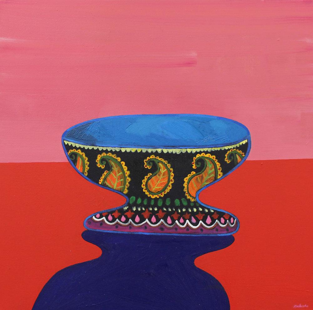 Nabeeha Mohamed  Dadi's Bowl  Oil on canvas  60 x 60 cm