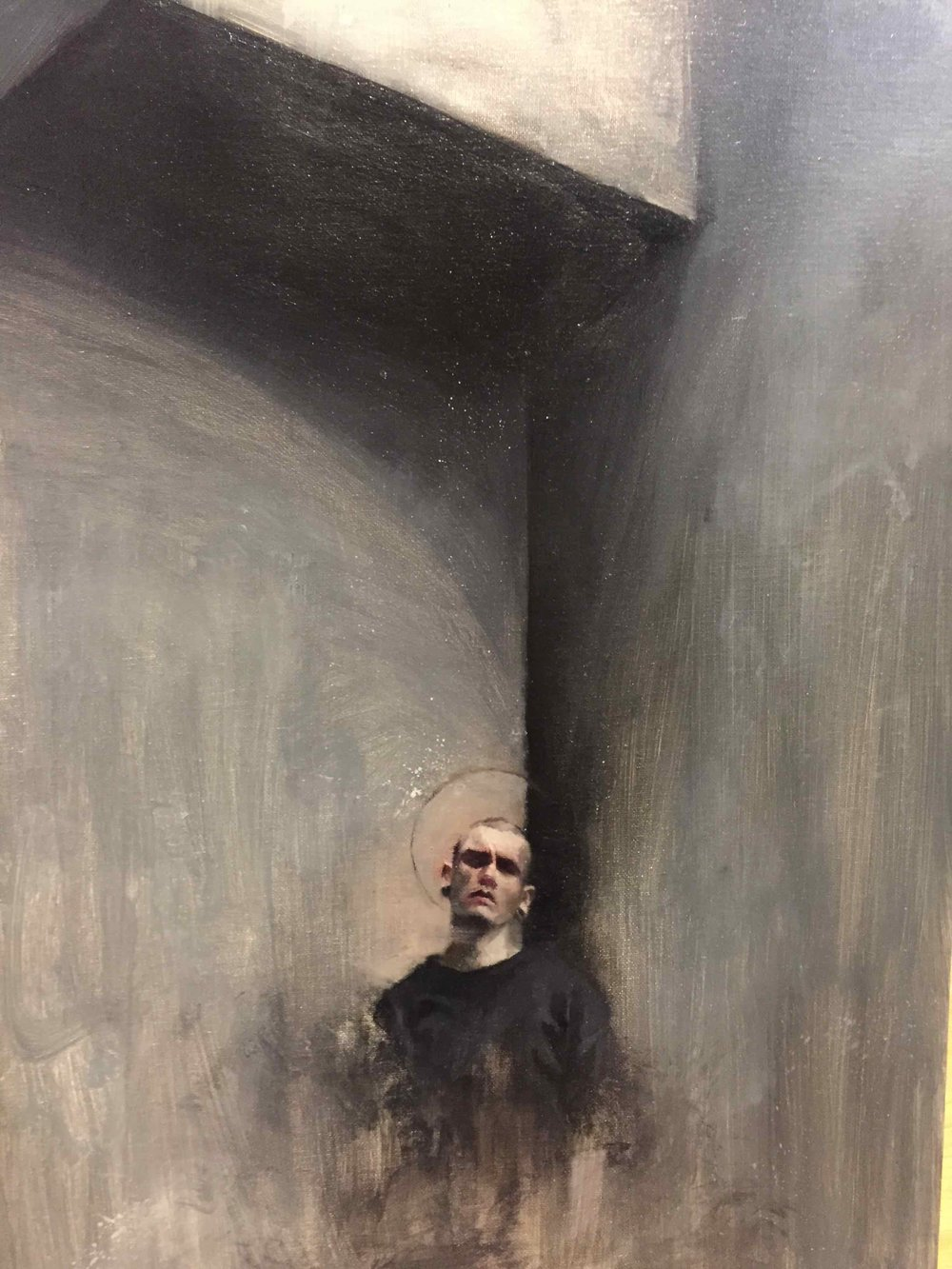 Chris Valentine  'Ghost II'  Oil on panel  59.5 x 42 cm