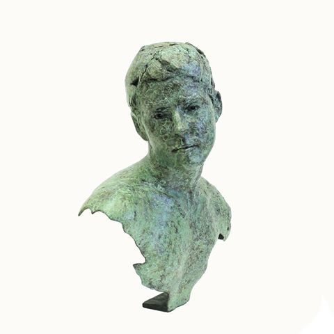 Adriaan Diedericks  Echo Bust  Bronze, ed of 12  35 x 33 x 20 cm