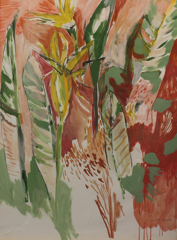 Gabriela Orzechowski  Exulansis  Acrylic & gouache on Fabriano  100 x 73 cm