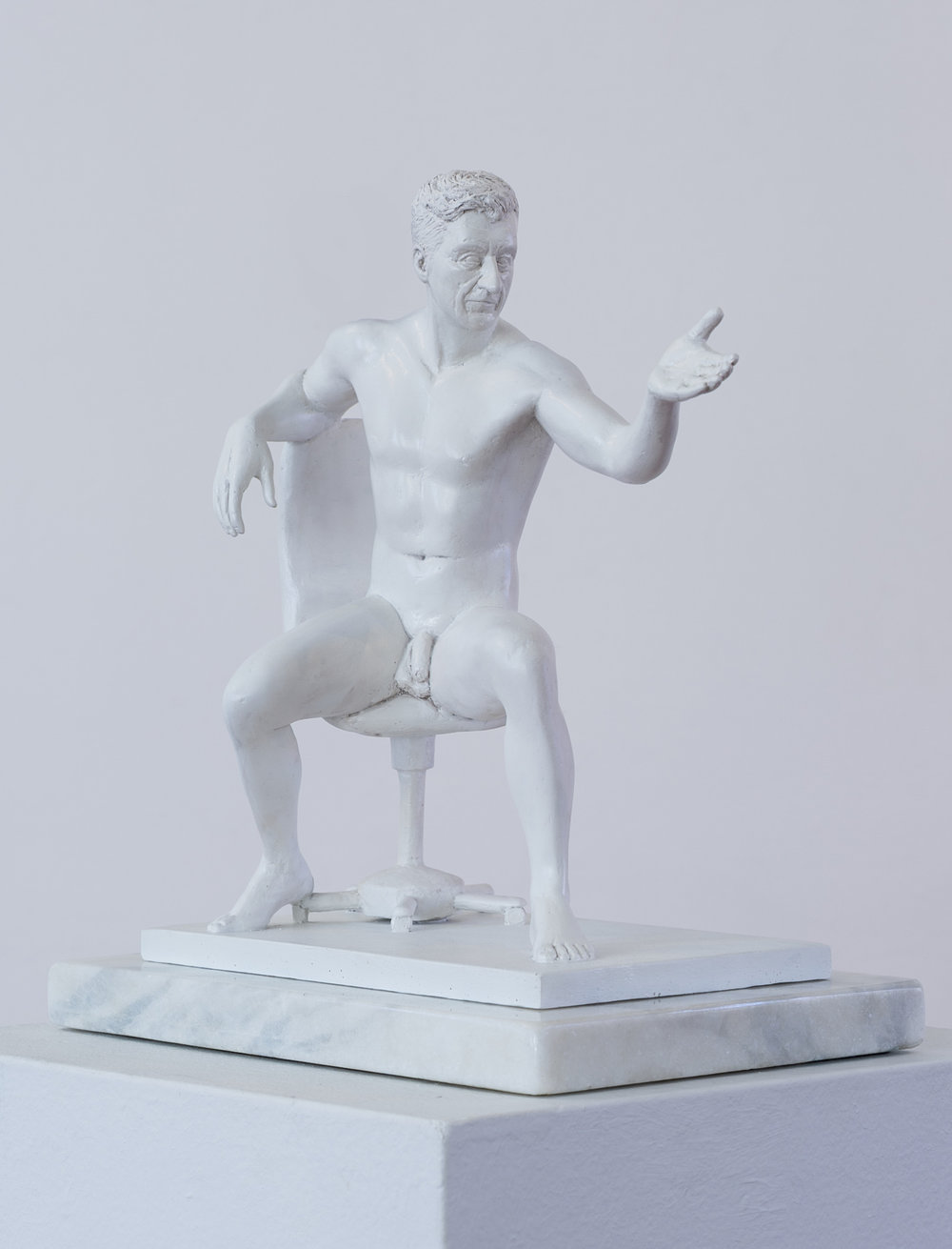 Jonathan van der Walt  Striving for the Idea(l) - Maurizio Cattelan  Resin, edition of 18  34 x 21 x 35 cm
