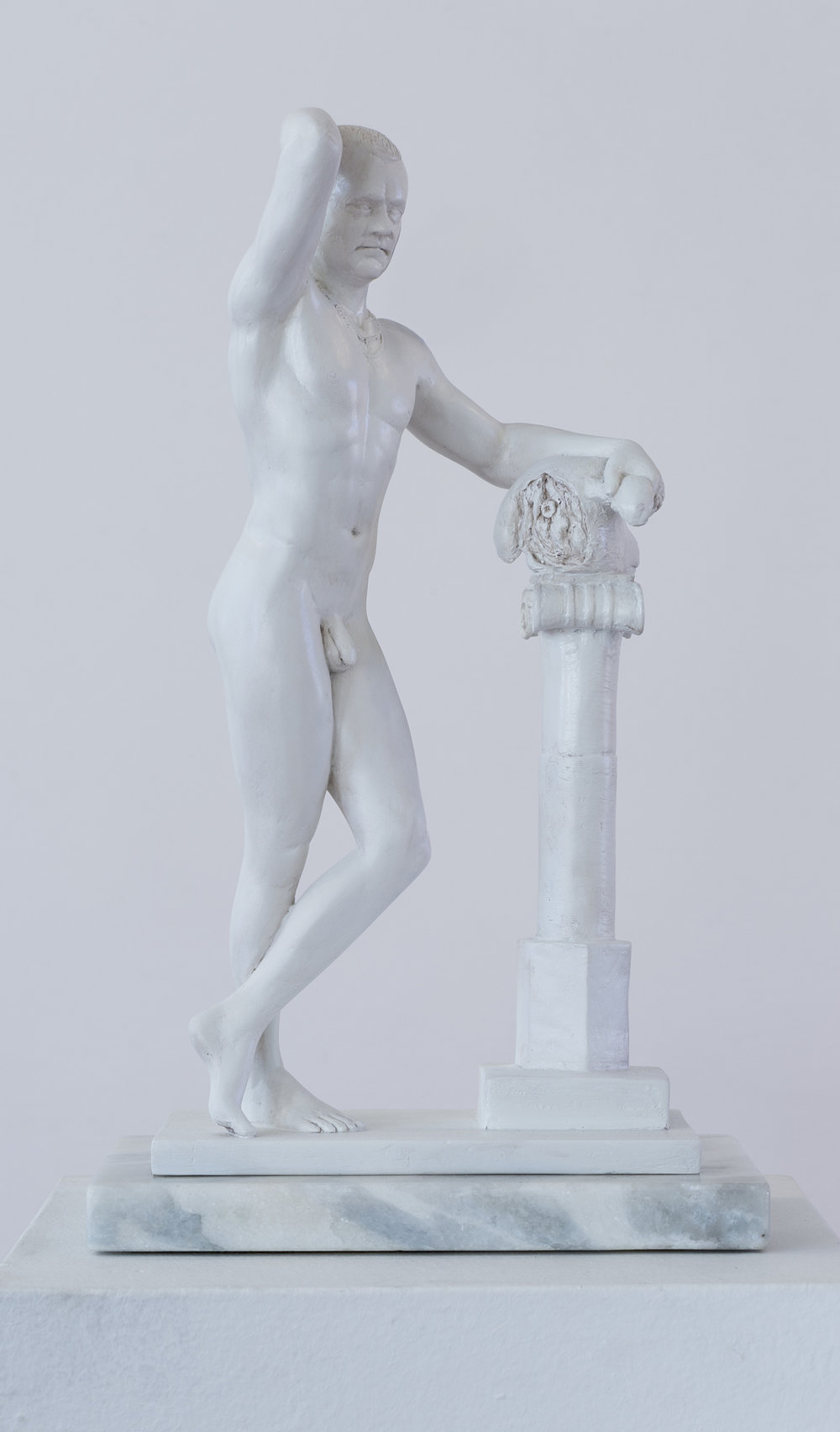 Jonathan van der Walt  Striving for the Idea(l): Damien Hirst  Resin, edition of 18  23 x 18 x 48 cm