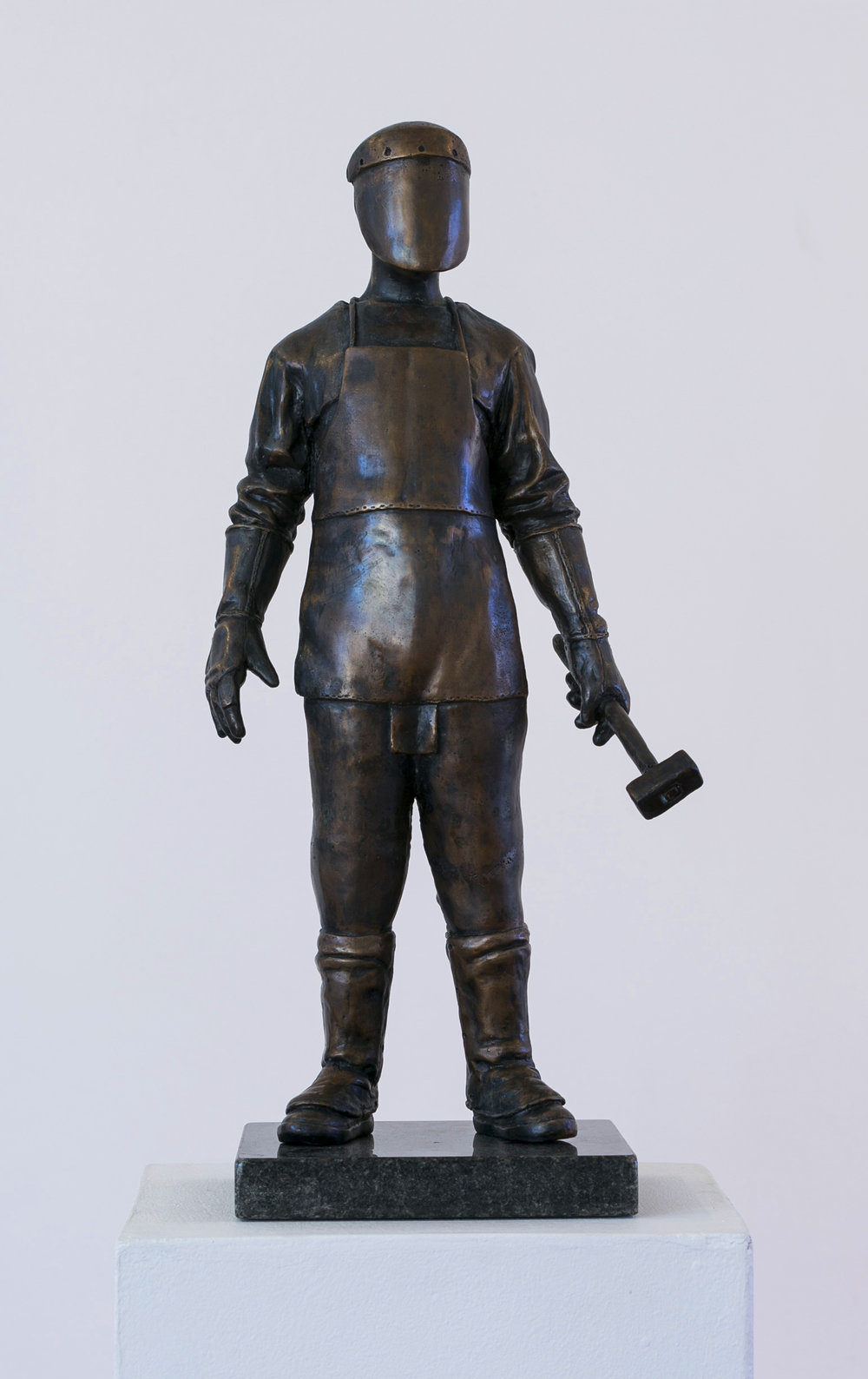 Jonathan van der Walt  The Craftsman  Bronze or resin, edition of 12  26 x 16 x 54 cm
