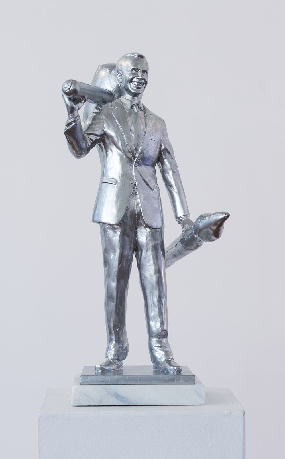 Jonathan van der Walt  The Renaissance Brand: Jeff Koons  Resin, edition of 18  30 x 20 x 52 cm