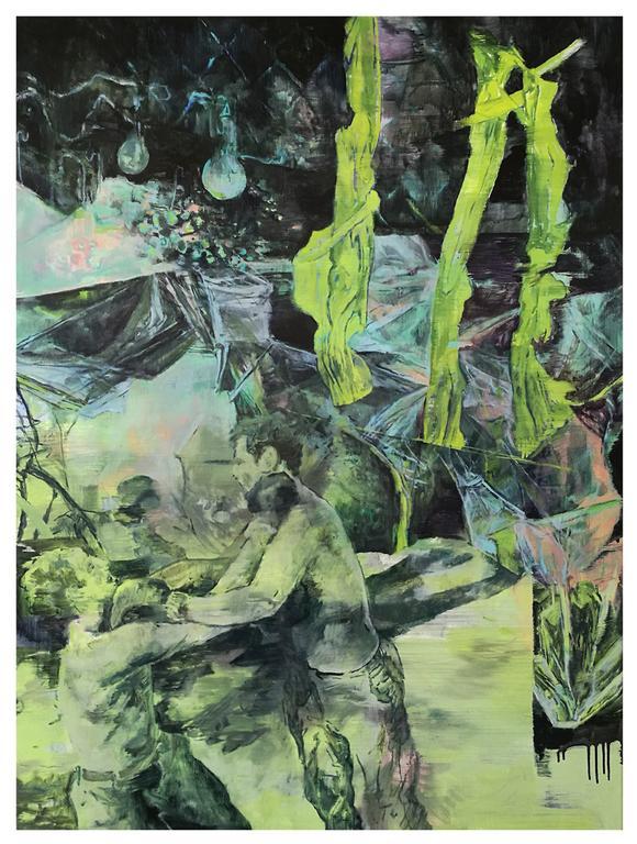 Karen Cronje  Complicity, 2017  Oil on canvas  101 x 76 cm