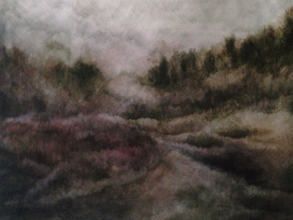 Zarah Cassim  A Certain Place I  Oil on canvas  40 x 61 cm