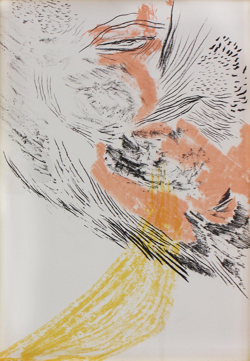 Gabriela Orzechowski  Time Spent Bewildered  Screenprint on Fabriano  67 x 47 cm