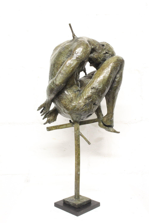 Adriaan Diedericks  Oblivion maquette (with head)  Bronze, edition of 12  57 x 27 x 22 cm