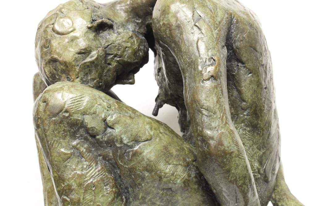 Adriaan Diedericks  Detail of Oblivion maquette (with head)  Bronze, edition of 12  57 x 27 x 22 cm