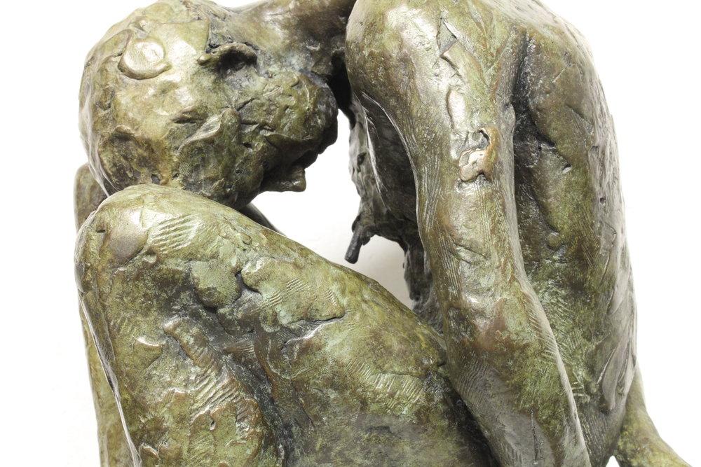 Adriaan Diedericks  Detail of Oblivion maquette (with head)  Bronze, edition of 12  57 x 27 x 22 cm