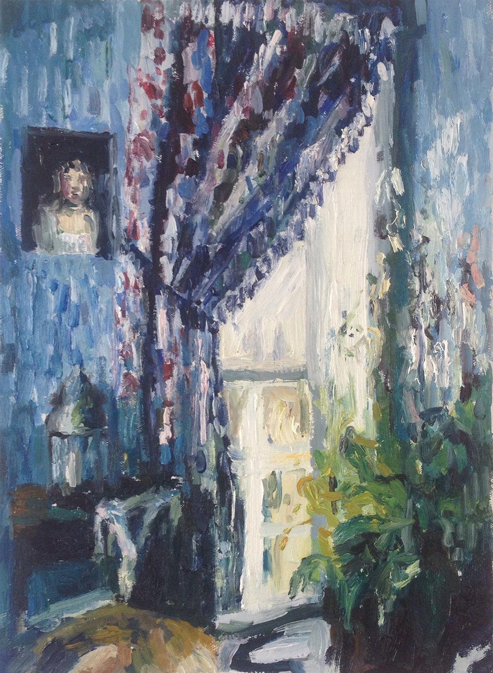 Fanie Buys  Angle Oracle Tarot (But Only on Sundays)  Oil on canvas  35.5 x 25.5 cm