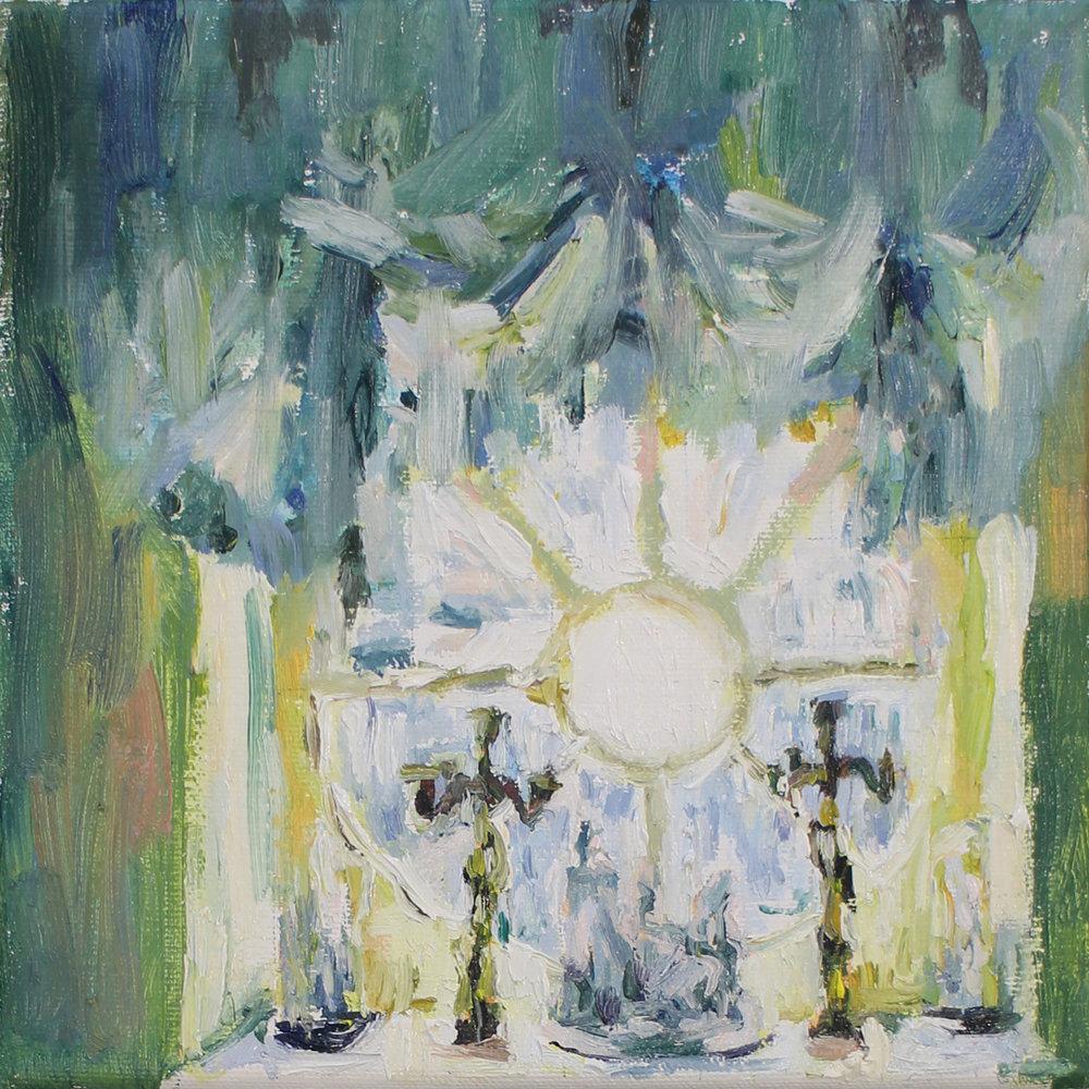 Fanie Buys  Confirmed Bachelor  Oil on canvas  20.5 x 20.5 cm