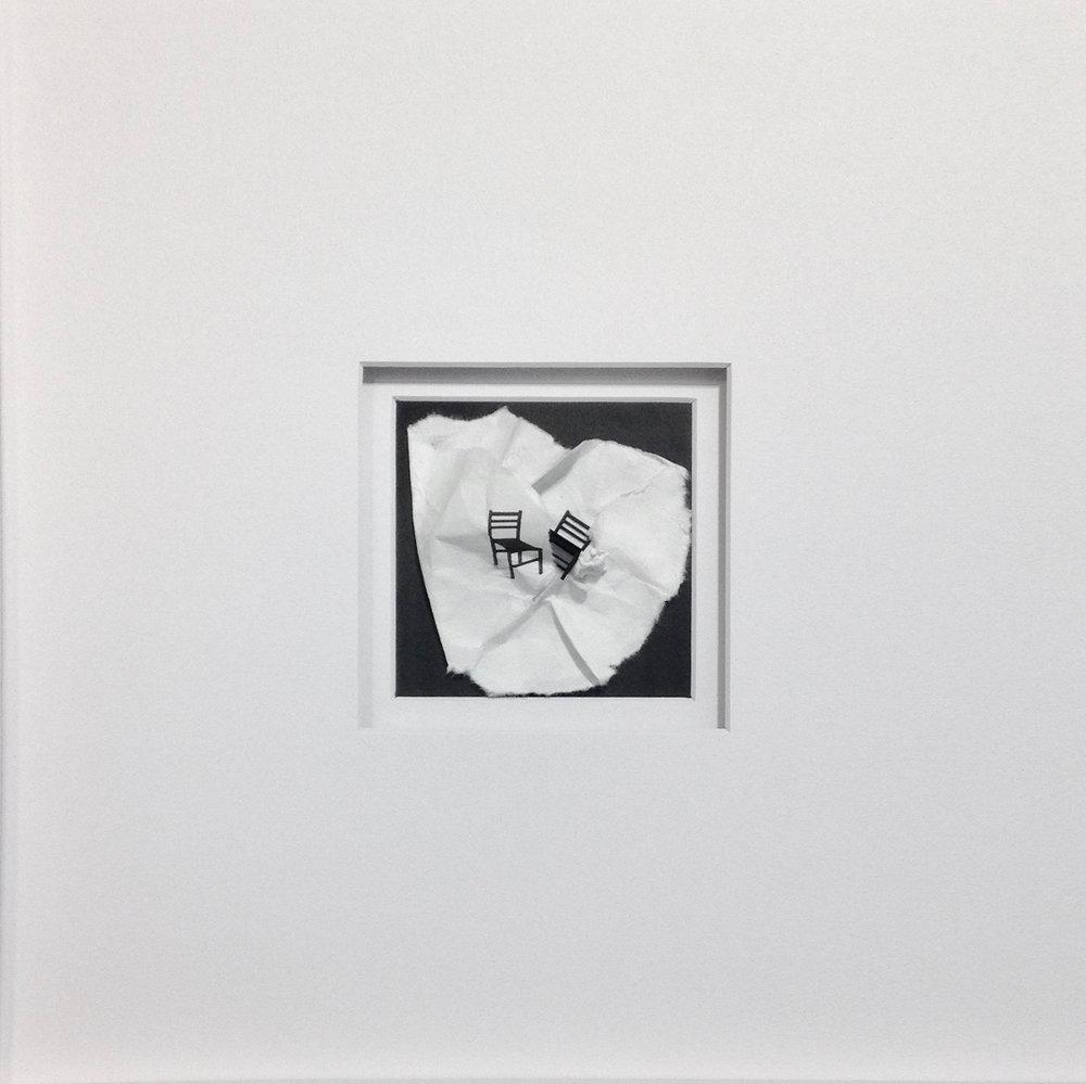 Juanita Oosthuizen  Unwrapping  Mixed media  39.5 x 39.5 cm