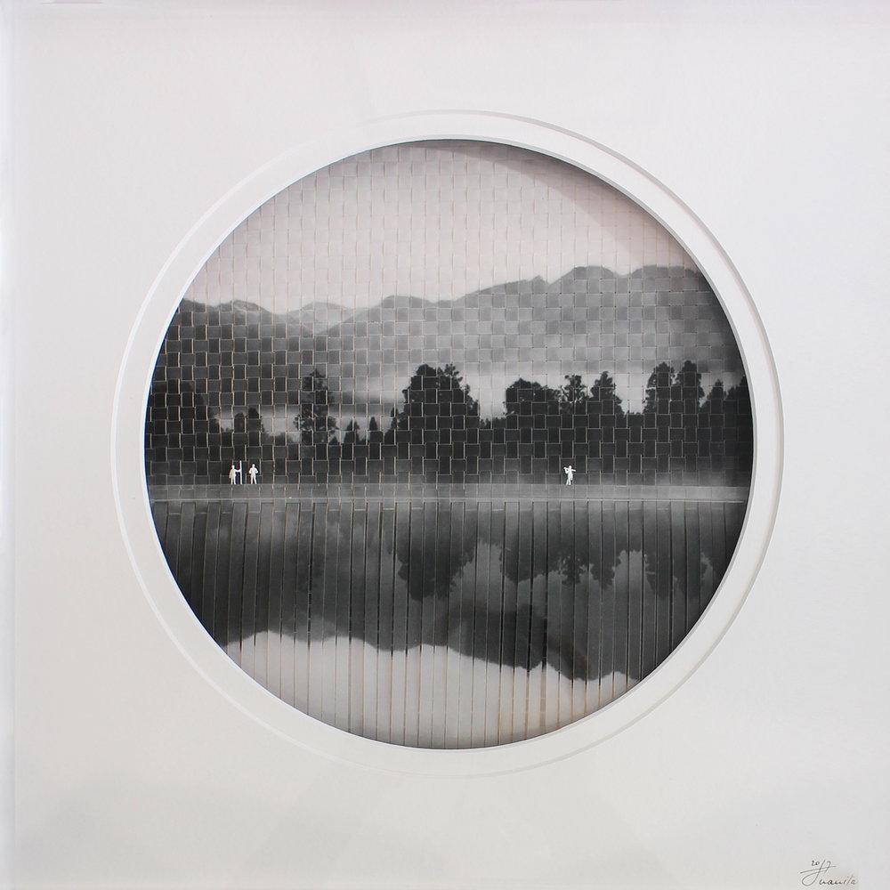Juanita Oosthuizen  Woven Landscape  Mixed media  39.5 x 39.5 cm