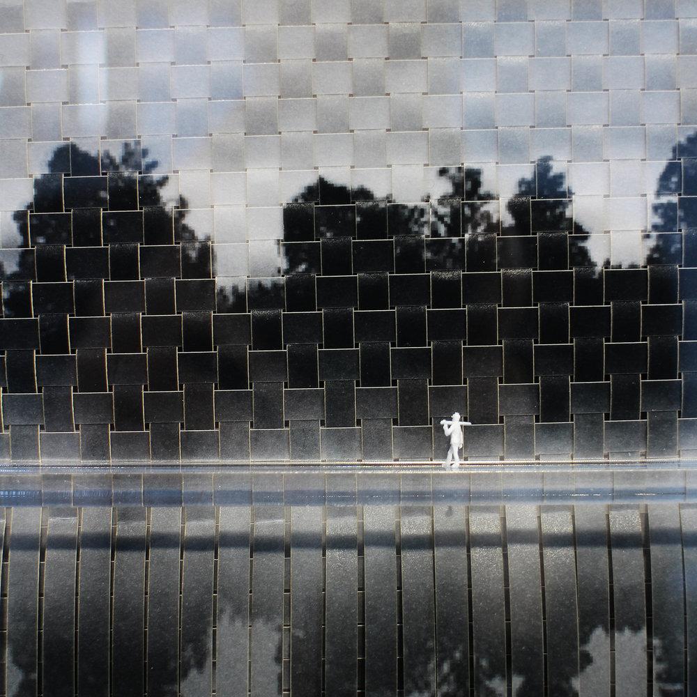 Juanita Oosthuizen  Woven Landscape (detail)  Mixed media  39.5 x 39.5 cm