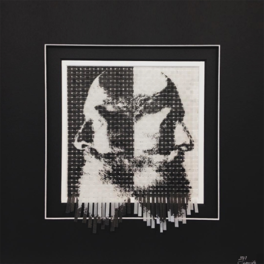 Juanita Oosthuizen  Reflection  Mixed media  39.5 x 39.5 cm